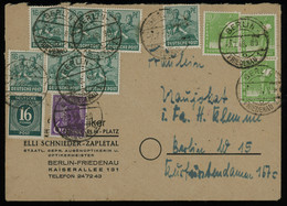TREASURE HUNT [01455] Allied Occupation 1948 Cover Sent Localy Within Berlin Bearing Multi-issue Franking - Zona AAS