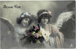 Deux Petits-Anges Circulée En 1911 - Angels