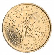 REPUBBLICA DI SAN MARINO 2021 - € 5 Segni Zodiacali ACQUARIO - San Marino