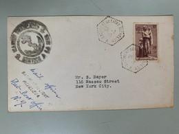 No 447 1939 Enveloppe Bâtiment De Ligne Richelieu Pour New York - Used Stamps