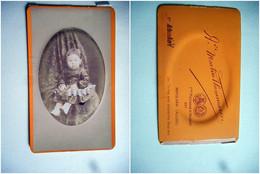 PHOTO CDV 19 EME JEUNE FILLE  MODE   Cabinet FLAMMARION A MOULINS ALLIER - Old (before 1900)