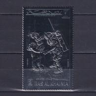 RAS AL KHAIMA 1972, Mi# A 707 A, Silver Foil, Perf, Space, MNH - Collections