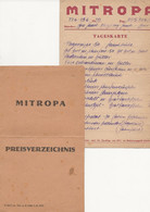 2 PAPIERS   RESTAURANT    MITROPA - Unclassified