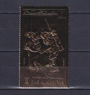 RAS AL KHAIMA 1972, Mi# B 707 A, Golden Foil, Perf, Space, MNH - Collections