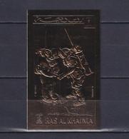 RAS AL KHAIMA 1972, Mi# B 707 B, Golden Foil, Imperf, Space, MNH - Collections