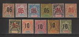 Saint Pierre Et Miquelon 1912 Série Surchargée 94-104, 11 Val * Charnière MH - Unused Stamps