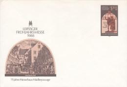 DDR  U 8, Postfrisch, Leipziger Frühjahrsmesse 1988 - Umschläge - Ungebraucht