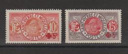 Saint Pierre Et Miquelon 1915-17 Paire Croix Rouge 105-106, 2 Val ** MNH - Unused Stamps