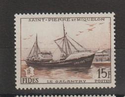 Saint Pierre Et Miquelon 1956 Fides Chalutier 352 ** MNH - Unused Stamps