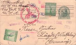 USA - POSTCARD 1941 NY > LÜGDE/DE >CENSOR< /GR34 - 1941-60