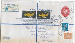 Ireland , Eire ,  1982 , Stationery 55 P ,  Registration Label Bri Chualann , Bré 1 Postmark - Enteros Postales