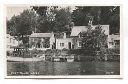 Port Navas Creek, Houses, Boats - C1950's Cornwall Real Photo Postcard - Altri