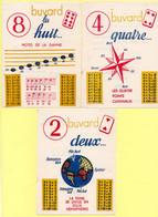 3 Buvards Sauba. Les Tables De Multiplcations Et D'additions Par 2, 4 Et 8. - Chemist's