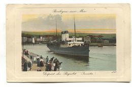 """Paquebot """"Invicta"""" Departing Boulogne-sur-Mer - Old France Postcard - Boulogne Sur Mer"""