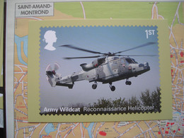 PHQ Véhicules De L'armée Britannique, Army Wildcat Reconnaissance Helicopter, Hélicoptère De Reconnaissance - Sellos (representaciones)