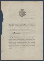 FRDoc  Mai 1816 : Document Du Préfet De Gap  Aux Maires Pour Une Ordonnance Royale D'amnistie - Decrees & Laws