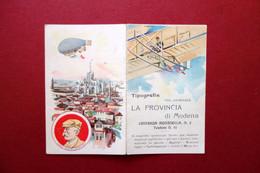 Calendarietto Tipografia Del Giornale La Provincia Di Modena 1911 Forlanini - Unclassified