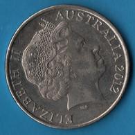 AUSTRALIA 20 CENTS 2012 KM# 403  Ornithorhynchus - 20 Cents