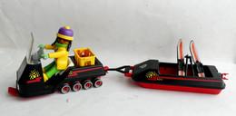 FIGURINE PLAYMOBIL MOTO NEIGE AVEC REMORQUE  Concerne Boîte 3694 - Playmobil