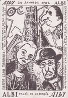 ALBI - Bourse Toutes Collections Du Carto Club Tarnais  (24 Janvier 1982) Dessin De GL MARCHAL (Signature Au Verso) - Beursen Voor Verzamellars