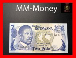 """BOTSWANA  2 Pula 1982  P. 7  """"sig. Mogae - Hermans""""    UNC - Botswana"""