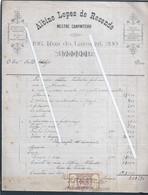 Fatura Do Mestre Carpinteiro Albino Lopes Resende, Porto 1845. Stamp Imposto 20 Réis D. Maria II. Invoice Carpenter - Portugal