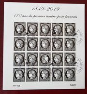 Bloc Cérès 1849-2019 170 Ans Du Premier Timbre Poste Français Oblitéré Avec Gomme - Afgestempeld