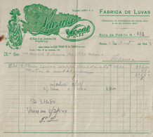 Porto - Factura De 1943 Da Livraria Vicente - Publicidade - Portugal - Portugal