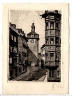 AK Schaffhausen, Schwabentor - Original-Radierung, Handabzug - Postal. Gel. Am 8.10.1950 - SH Schaffhausen
