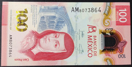 MEXICO 2020 $100 SOR JUANA + POLYMER NOTE + SERIES AM 8 May 2020 Jonathan Signature Rare Series Mint Crisp - Mexico