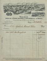 Bâle - Facture De 1919 De La Sociéte Pour L'Industrie Chimique - Pharmaceutique - Publicité - Suisse - Portugal