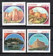 2021- Tunisia - Forts From Tunisia -Tabarka Fort - Hammamet Fort  - Kelibia Fort - Mahdia Fort - Complete Set 4v.MNH** - Tunisia
