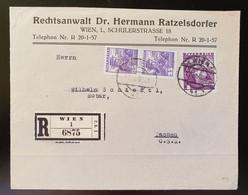 Österreich 1936, Reko Brief MiF WIEN Gelaufen Tachau - Covers & Documents
