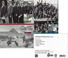 Australia 2015 3 Postal Stationery Used As Maximum Card Centenary Of World War I 1 WW1 WWI Troop Kangaroo Pyramid - Cartas Máxima