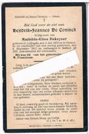 Dp. Oorlog. De Coninck Hendrik. ° Leffinghe 1873 † Oostende 1917 - Religion & Esotérisme