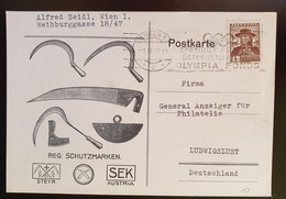 Österreich 1936, Werbe Postkarte Wien Gelaufen Ludwigslust - Covers & Documents
