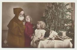 Carte Fantaisie Père Noël  Enfants Jouets Sapin - Sonstige