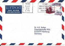 Australian Antarctic Territory Air Mail Cover Sent To Germany 25-5-1999 Single Franked - Cartas