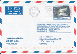 Australian Antarctic Territory Air Mail Cover Sent To Germany Mid North Coast 17-2-2000 Single Franked - Cartas