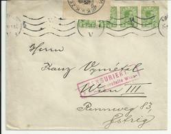 Denmark. Censored Cover To Wien. 1917. - Lettere