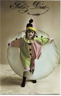 Petit Enfant Habilé En Arlequin - Portraits