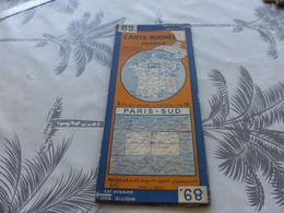 CA-176 , Carte Michelin,  PARIS-SUD , N°89 ,  1939 - Carte Stradali