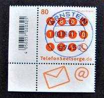 """Bund/BRD September 2021,Sondermarke """"Telefonseelsorge"""", MiNr 3627, Ecke 3,  Ersttagsgestempelt - Gebruikt"""