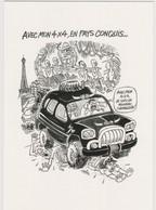 CABU - Dessin Presse Pollution Ville Non Voiture 4x4 Paris Tour Effel - CPM 10,5x15 TBE Neuve - Cabu
