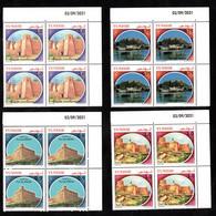 2021- Tunisie -Forts De Tunisie: Fort De Tabarka, De Kélibia, De Hammamet Et De Mahdia- Bloc 4- Série 4v.MNH**Coin Daté - Tunisie (1956-...)
