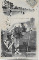 CPA -(85) - Les Sables D'Olonne - Pecheurs à La Ligne Sur La Plage - La Pêche, Les Derniers Preparatifs (écrit En 1906) - Sables D'Olonne