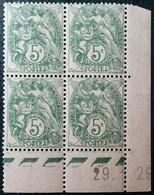 R1300/69 - 1929 - TYPE BLANC - N°111 BLOC NEUF** CdF CD - ....-1929