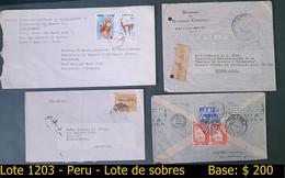 Peru -  Lot D'enveloppes - Perù