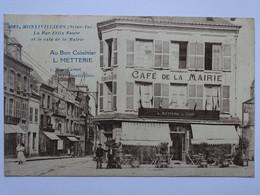 """CPA (76) Seine Maritime - MONTIVILLIERS La Rue Félix Faure Et Le Café De La Mairie """"Au Bon Cuisinier"""" L. METTERIE - Montivilliers"""