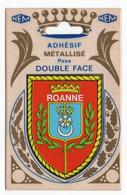 CP Adhesif 331, Blason Adhésif Métallisé Double Face NEM, 42 Roanne - Roanne